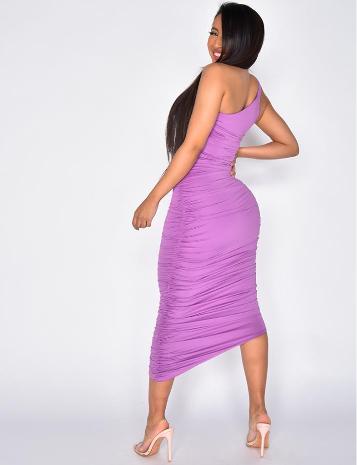 Asymmetric Drape Dress