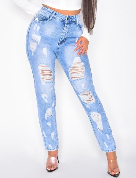 Jeans boyfriend destroy