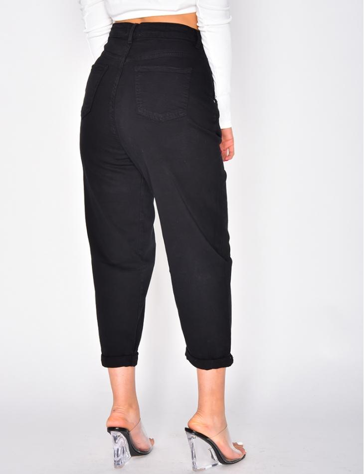 Jeans slouchy noir
