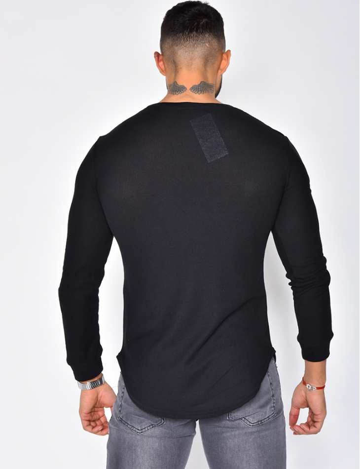 Long Sleeved T-shirt with Round Neckline