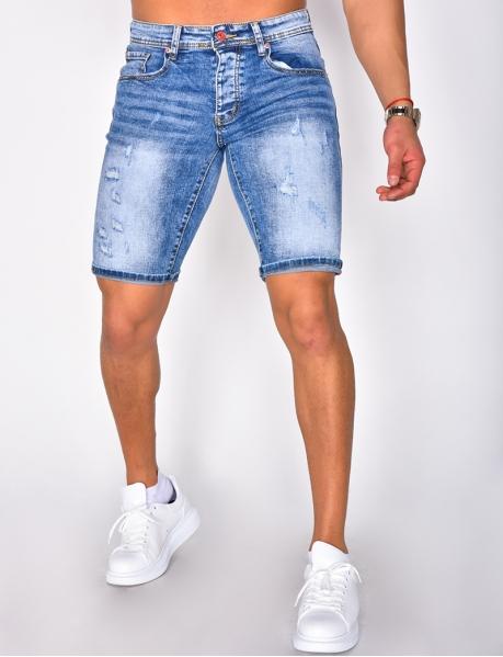 Shorts aus Jeansstoff destroy