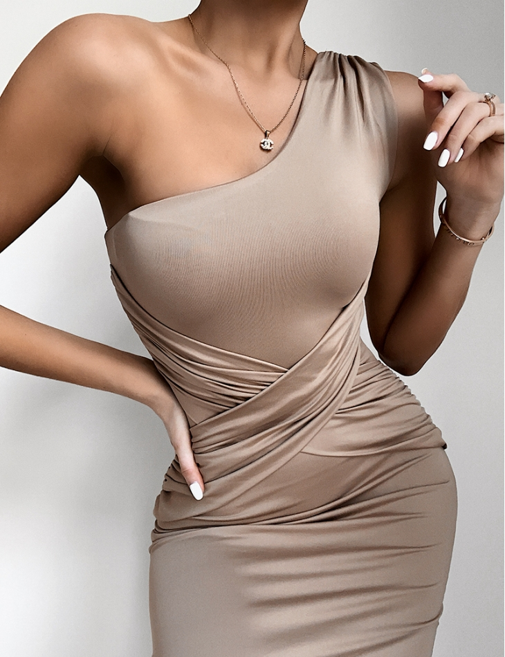 Crossover Style Asymmetric Dress