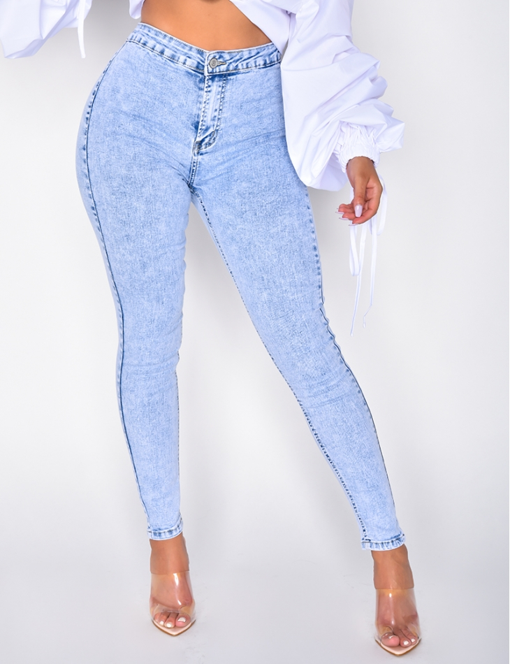 High Waisted Faded Jeggings