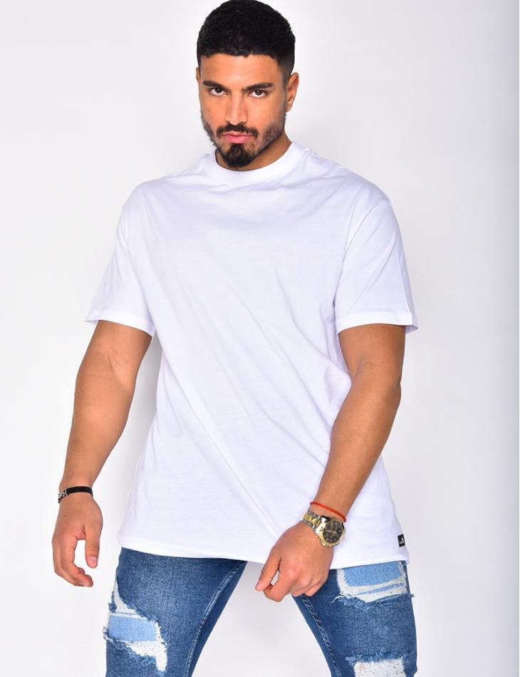 T-shirt basic col montant