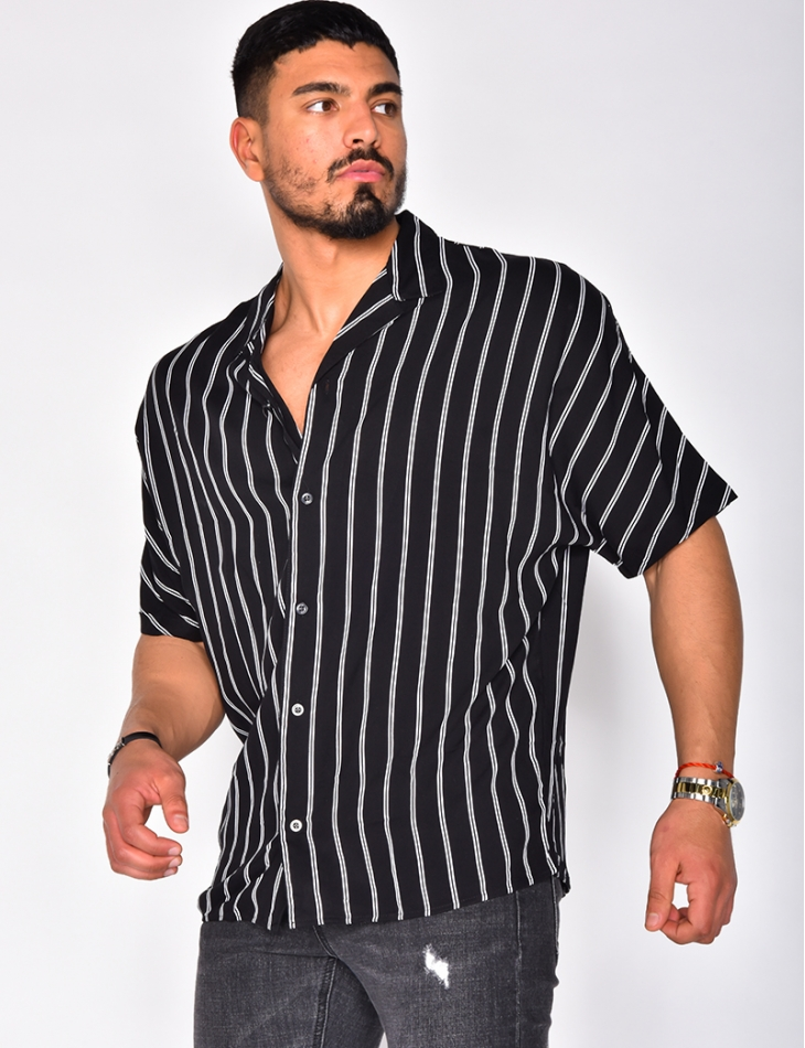 Short Sleeved Striped Shirt