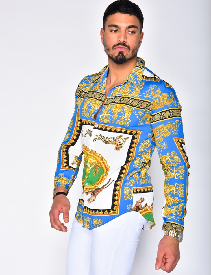 Shirt with Baroque Pattern