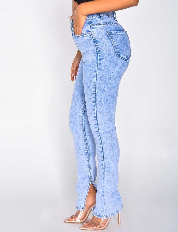 Jeans large à boutons