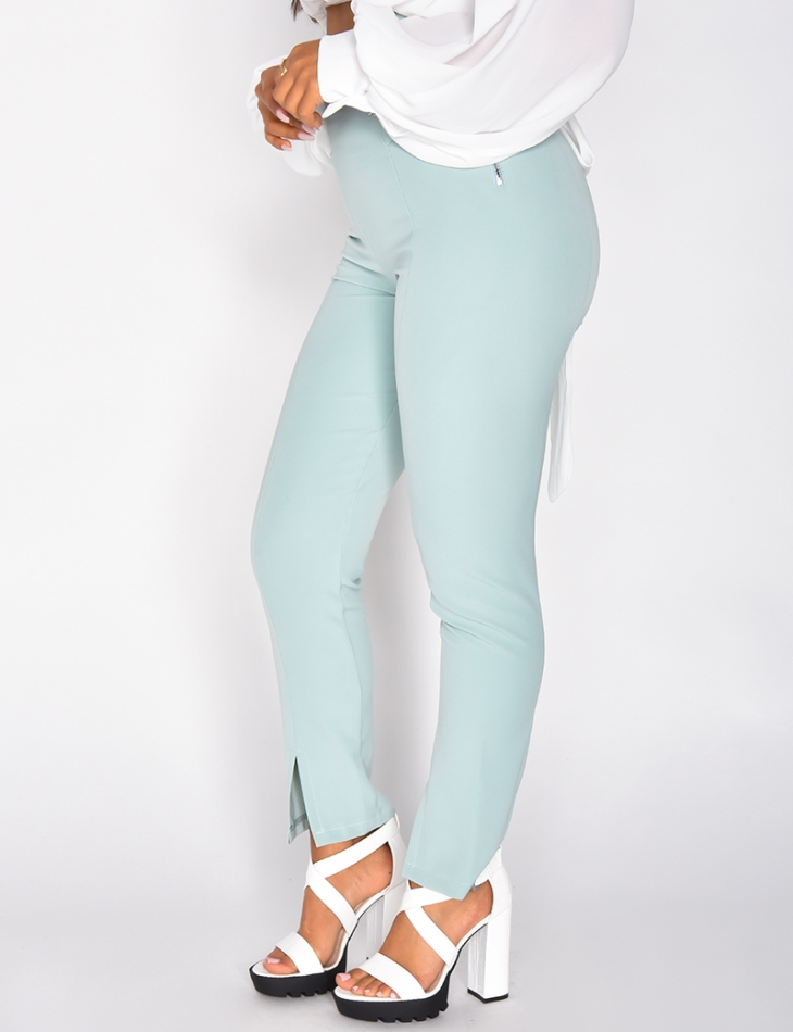 High Waisted Trousers with Zip