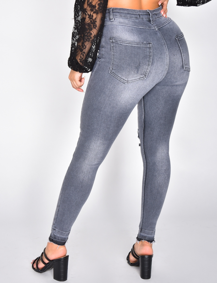 Super Soft Ripped Skinny Jeans