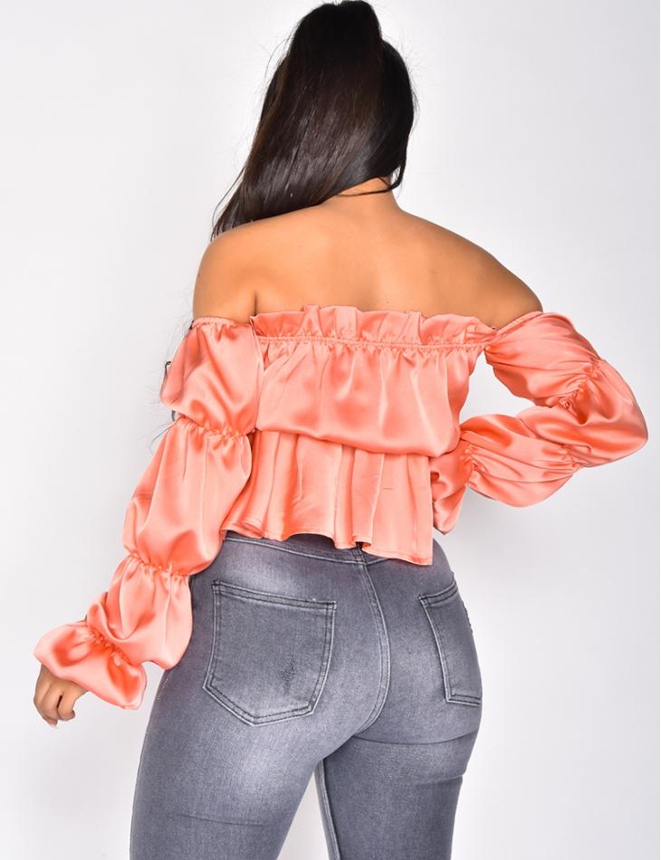 Long Sleeved Loose Fit Crop Top