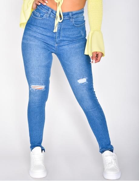Jeans Skinny Fit destroy, weich