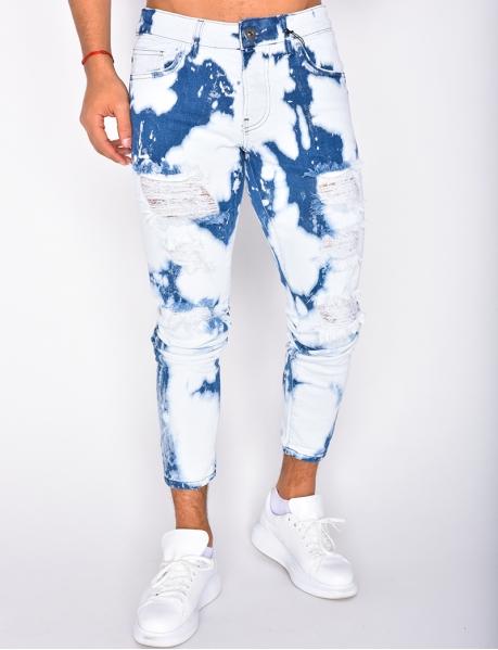 Jeans destroy, mit Flecken