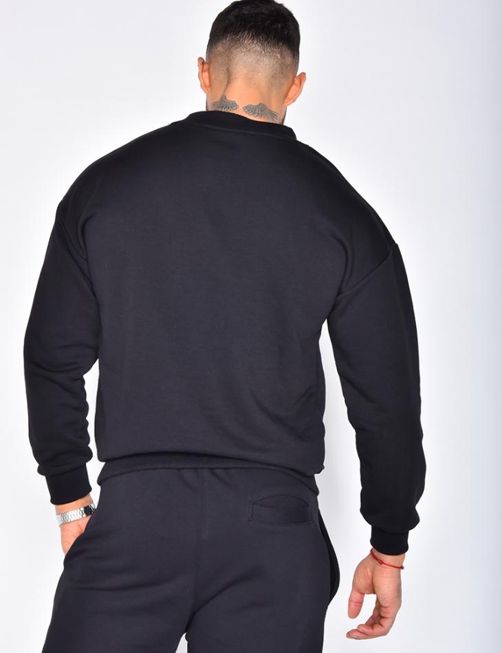 Sweatshirt with Round Neckline