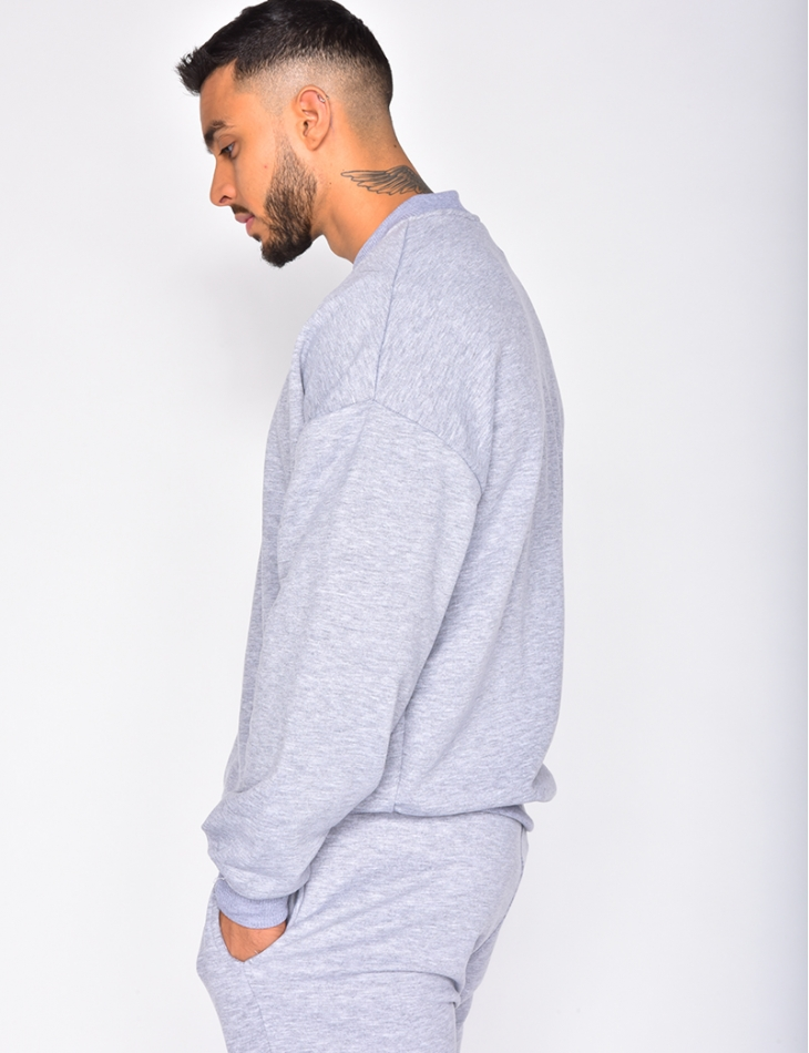 Sweatshirt with Round Neckline