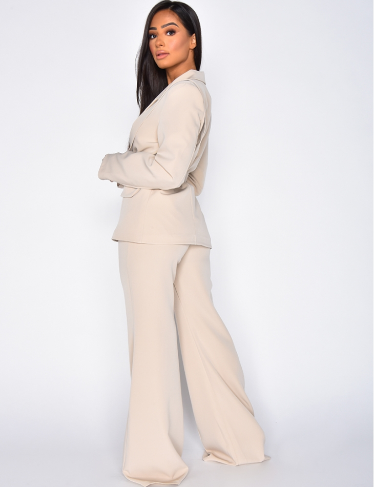 Jacket and Trousers Outfit with Belt