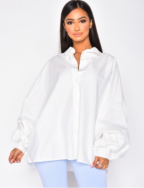Chemise manches larges
