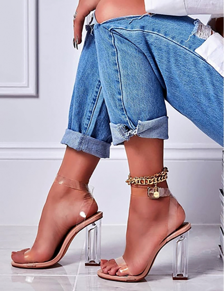 Sandals with Transparent Heels