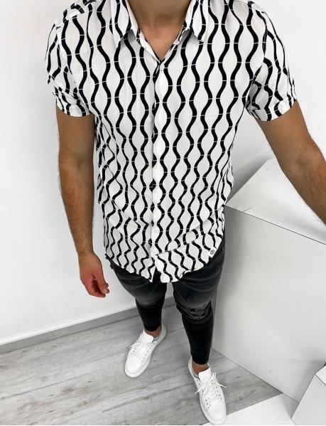 Chemise manches courtes à motifs