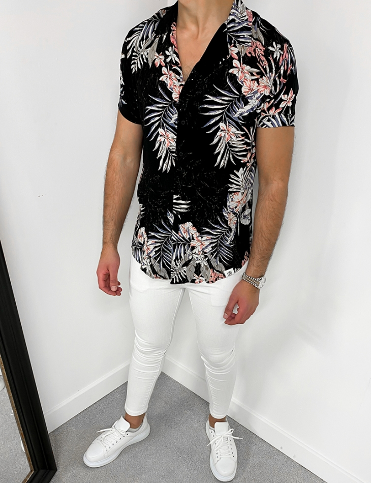 Chemise manches courtes tropical