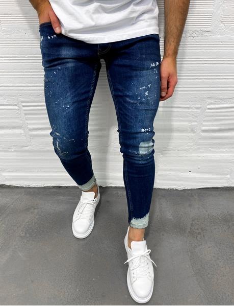 Jeans à taches de peinture