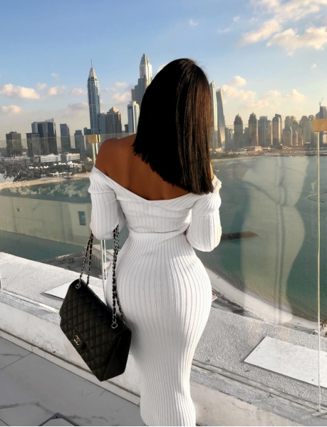 Long Ribbed Bodycon Dress
