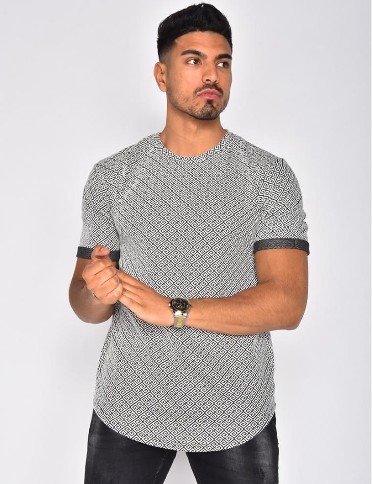 T-shirt à motifs géométriques