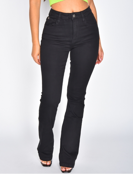 Jeans skinny taille haute patte d'eph