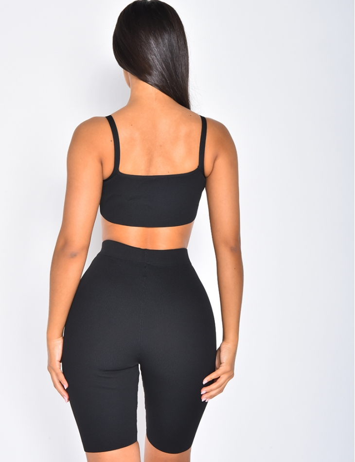 Bralette and Cycling Shorts Co-ord
