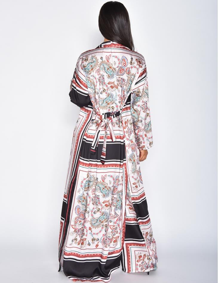 Ensemble pantalon et kimono fluide à motif