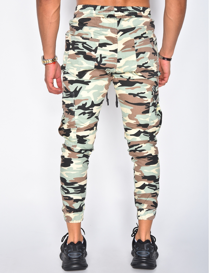 Jeans motif camouflage