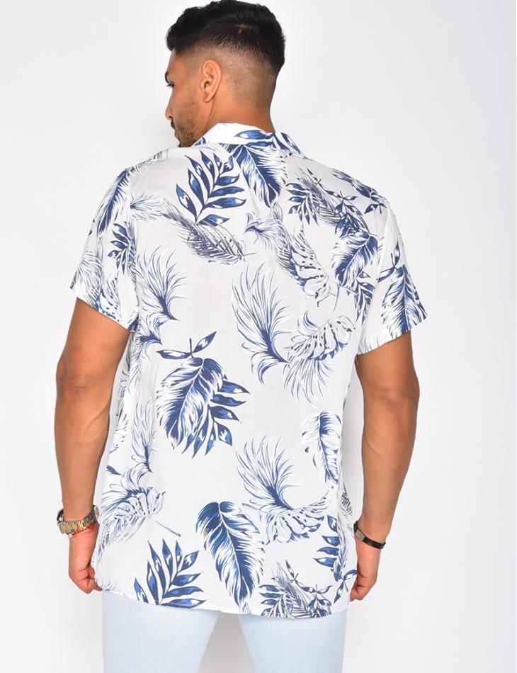 Chemise à motifs fleurs