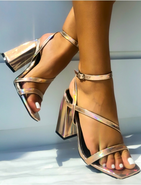 Sandals with Square Heels