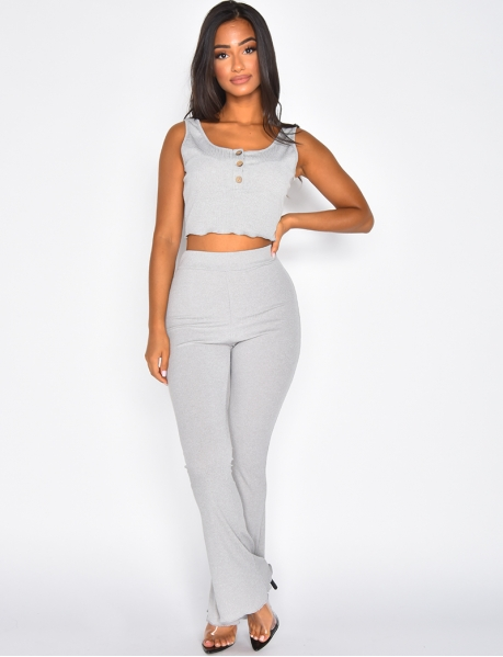 Ensemble pantalon et crop-top