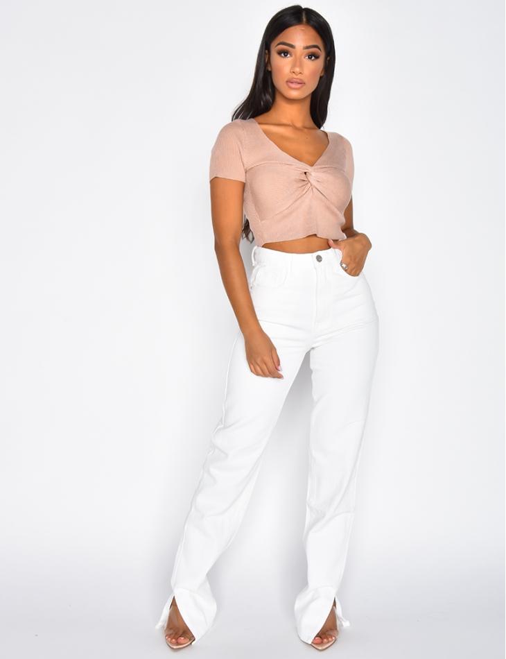 Jeans à fentes