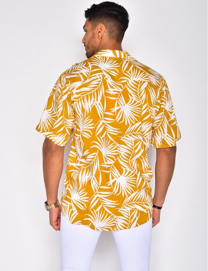Chemise à motifs feuilles