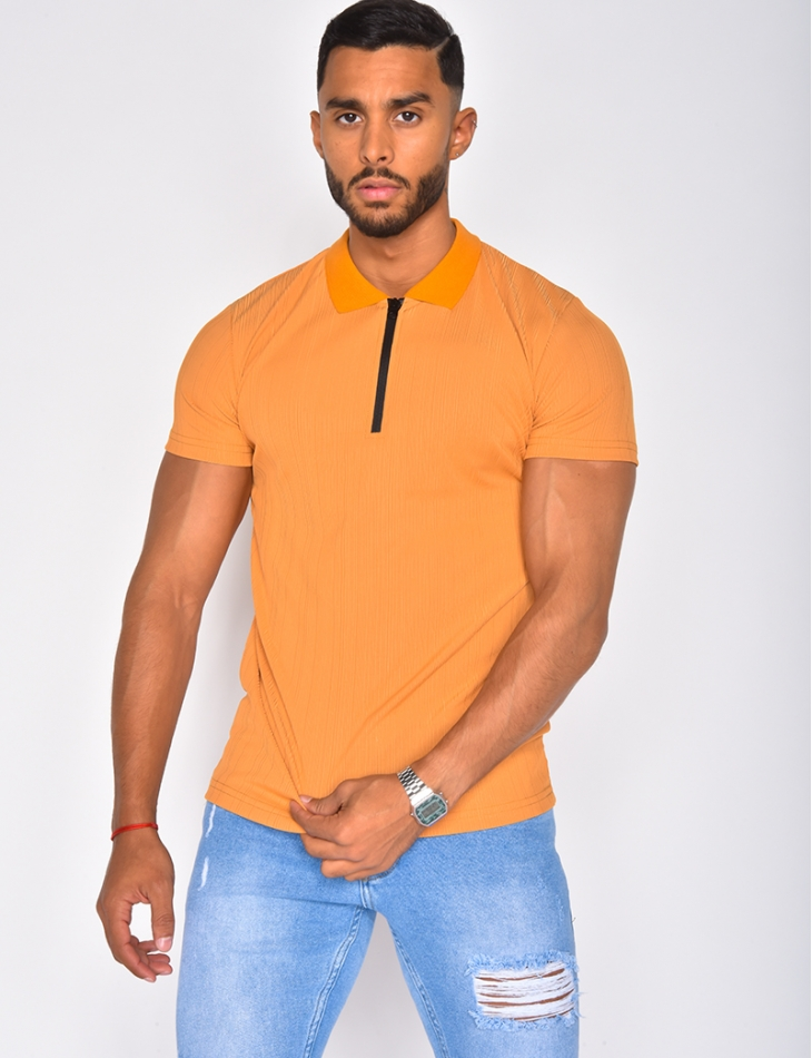 Polo homme à zip