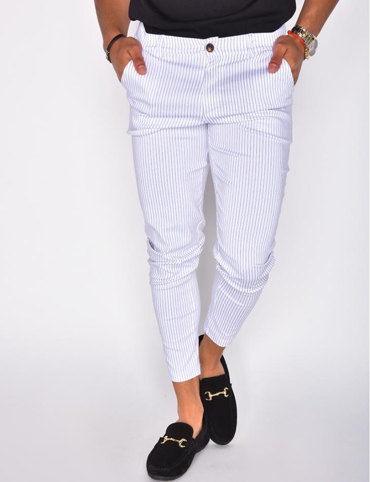 Pantalon à rayures