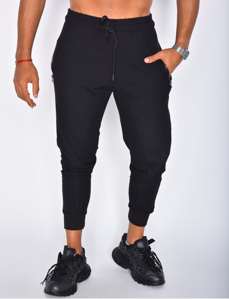 Pantalon de jogging à zip