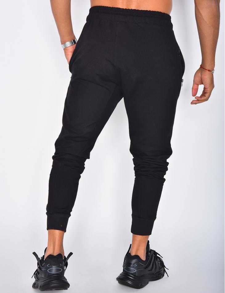 Pantalon de jogging à zip