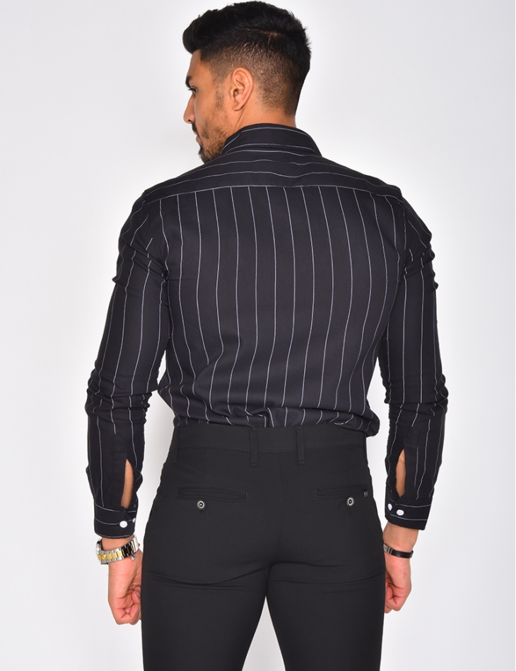 Chemise manches longues à rayures