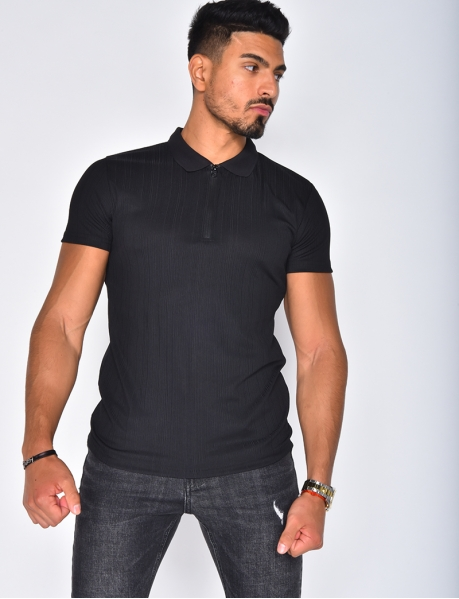 Men's Polo Shirt with Zip