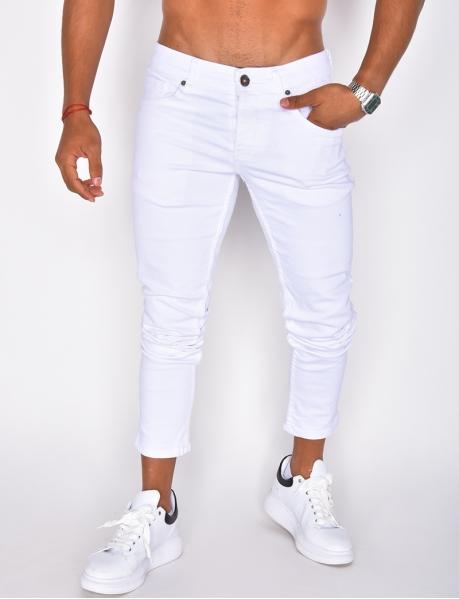 Jeans blanc basique