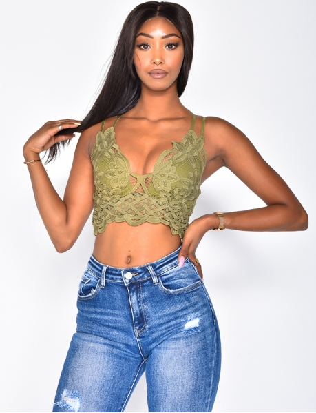 Crop Top with Embroidery