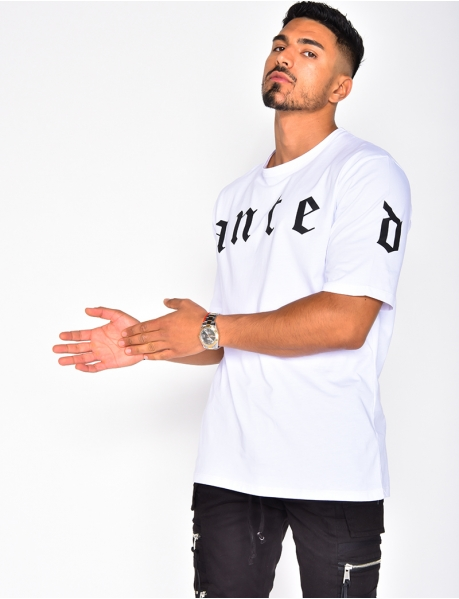 T-shirt oversize à motifs