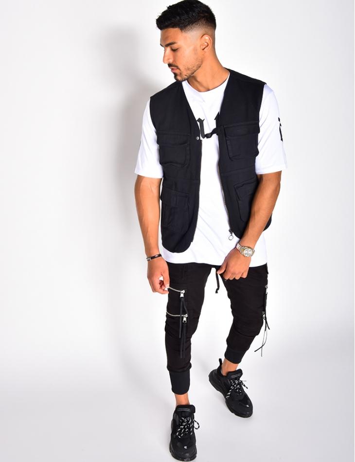 Gilet homme à zip et poches