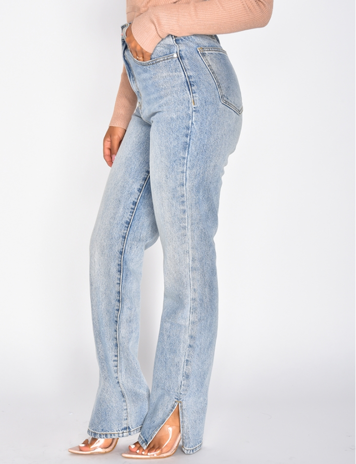 High Waisted Jeans with Slits *Petite collection*