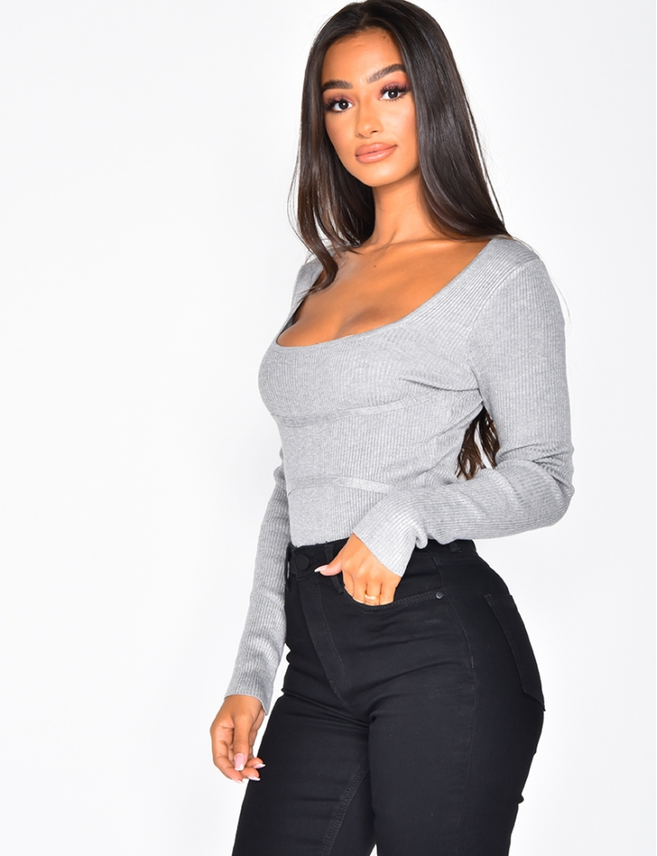 Ribbed Bodysuit