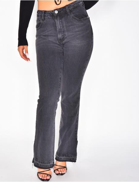 Jeans pattes d'eph fendu aux chevilles