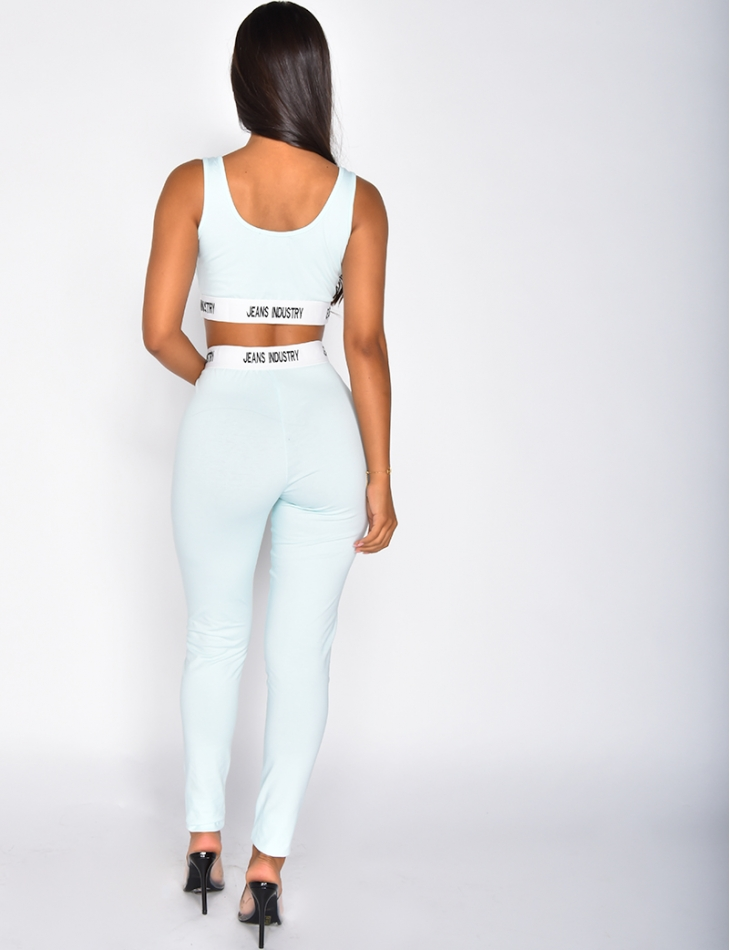 Ensemble pantalon et crop top Jeans Industry