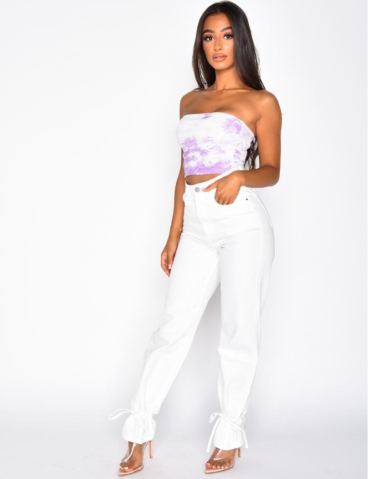Jeans à noeuds aux chevilles